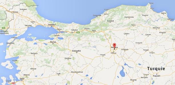 Un important incendie s'est déclaré à Ankara - DR : Google Maps