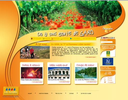 CDT du Gard : le site Internet fait peau neuve