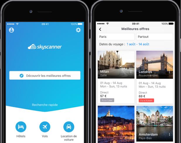 Skyscanner a développé une nouvelle application, apportant une foule de nouvelles fonctionnalités (c) Skyscanner