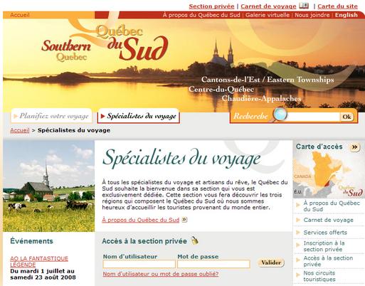Le Québec du Sud lance une campagne Internet