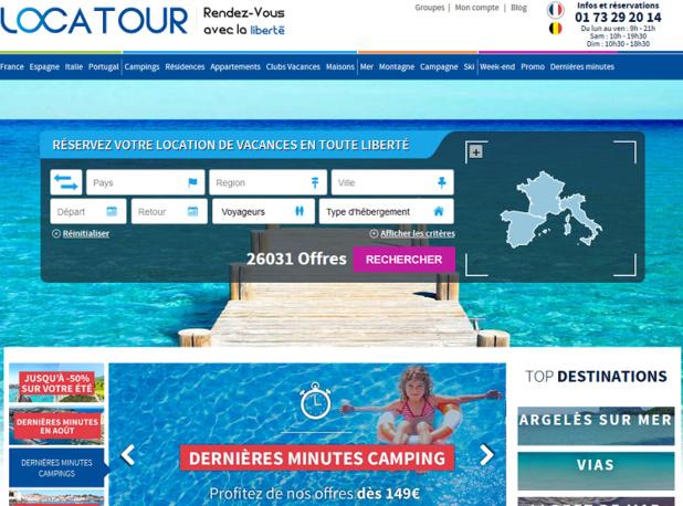 Le site Locatour enregistre 70 % des ventes en France, 25 % en Espagne et 5% réparties entre Portugal et Italie - Capture écran