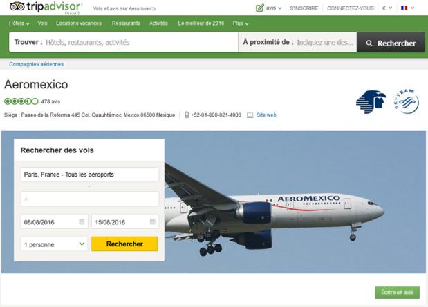 Le site TripAdvisor consacre une rubrique aux compagnies aériennes - DR