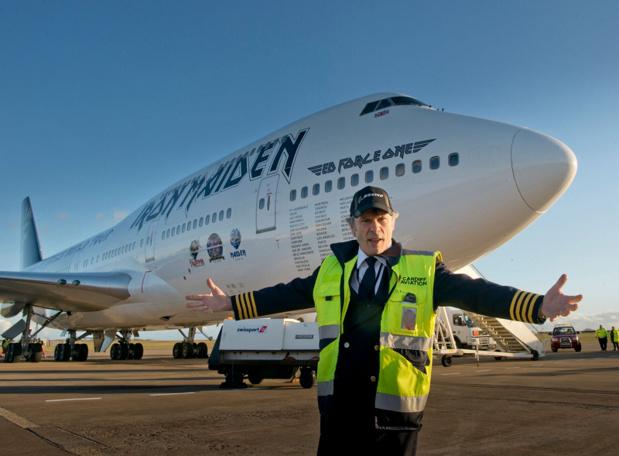 Le Jumbo Jet pour la tournée D'Iron Maiden - DR
