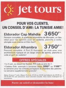 Publicité pour Jet tours en 1995 - DR