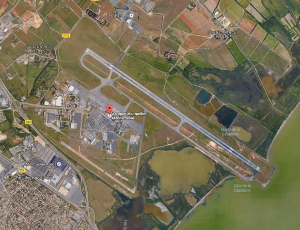L'aéroport de Montpellier - Capture écran Google