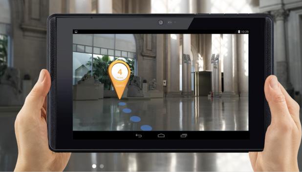 L'application intègre la technologie de détection et de cartographie de l'environnement (c) GuidiGO
