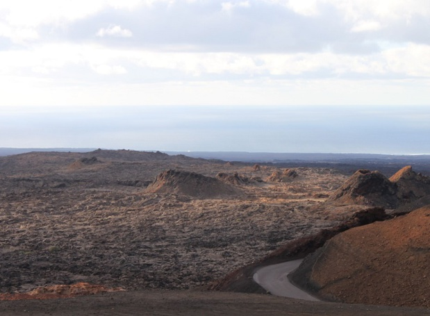 Lanzarote est un désert de sable volcanique. C'est la particularité de l'île - DR : A.B.
