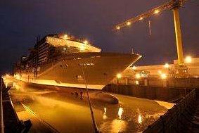 MSC Croisières : mise à l'eau du MSC Splendida