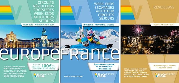Visit Europe présente les nouveautés de ses 3 brochures hiver-printemps 2017
