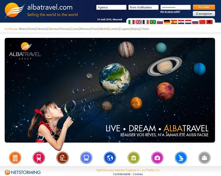Le site BtoB d'Albatravel fait peau neuve (c) capture homepage