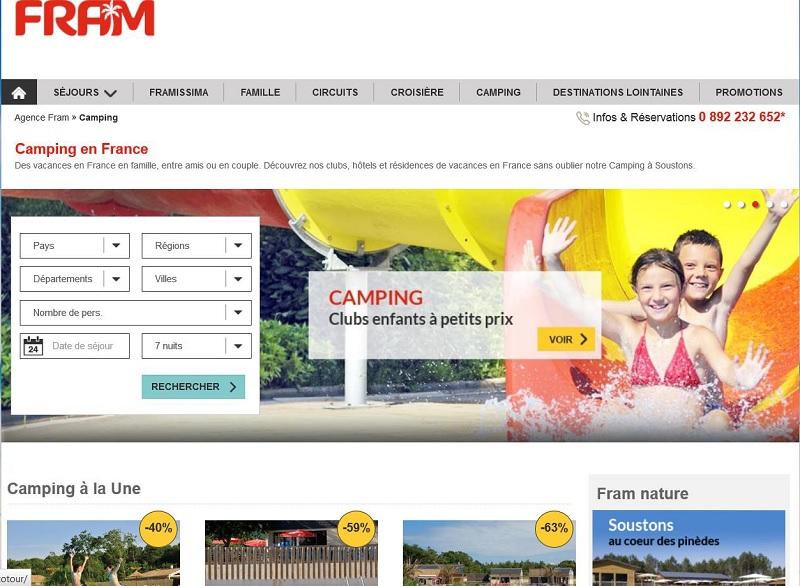 Fram se lance dans le camping