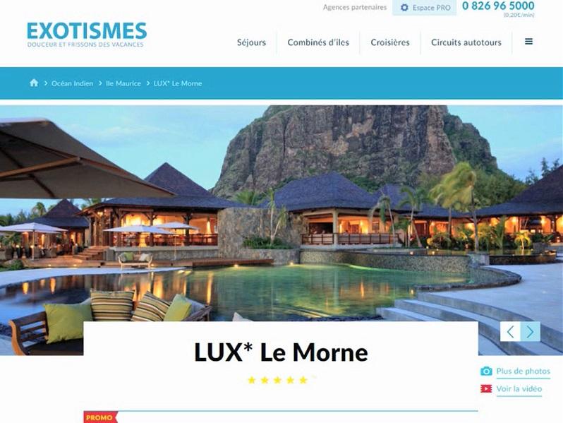 Exotismes se dote d'un nouveau site BtoBtoC inspiré des technologies des GAFA comme Amazon et Google (c) Capture d'écran Exotismes