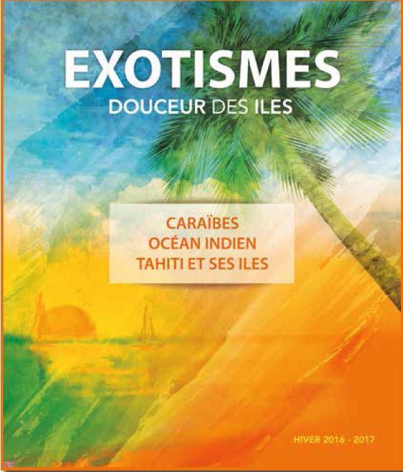 La nouvelle brochure d'Exotismes. DR Exotismes.