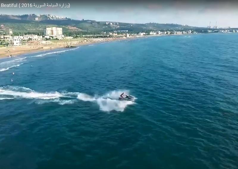 C'est par un clip vidéo, publié sur YouTube que le ministère du tourisme syrien veut attirer le touriste gogol sur ses plages - DR : Capture d'écran YouTube