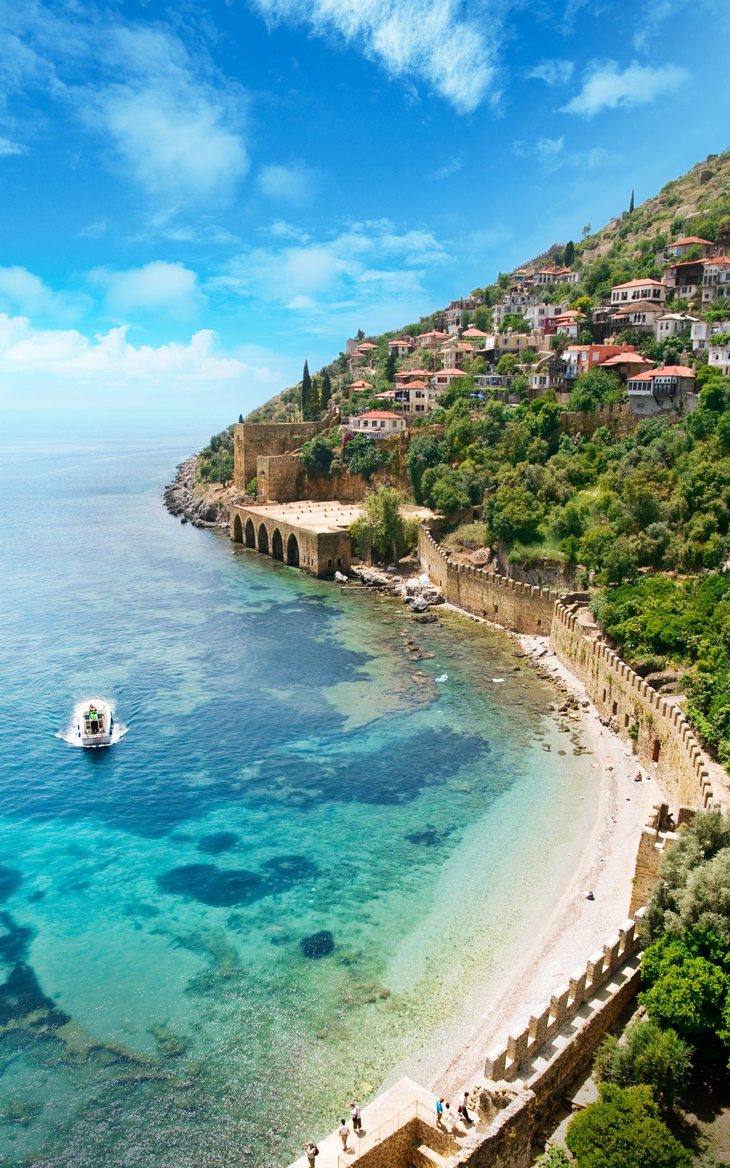 Forteresse d'Alanya, région méditerranéenne
