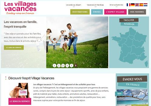LesVillagesVacances.com regroupe les offres de 20 adhérents de l'UNAT - Capture d'écran