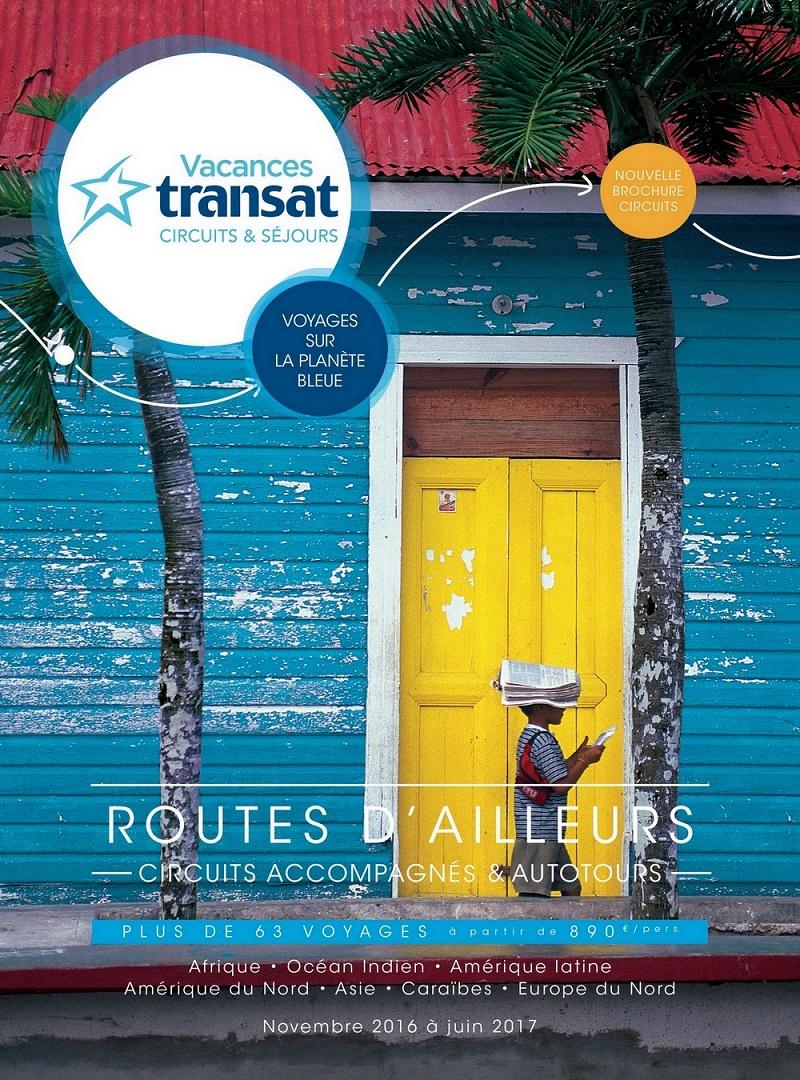 """Les circuits et autotours sont dans la brochure """"Routes d'ailleurs"""" - DR : Transat France"""