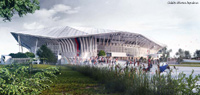 Le nouveau Grand Stade de Lyon. Photo Tourmag.com.