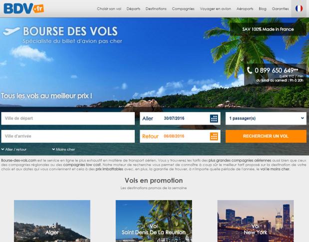 Les tendances des ventes estivales du site de vente en ligne Bourse des Vols. DR - BDV