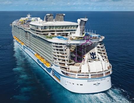 L'accident aurait eu lieu lors d'un exercice de sécurité à bord de l'Harmony of the Seas lors de son escale à Marseille - Photo : Royal Caribbean International