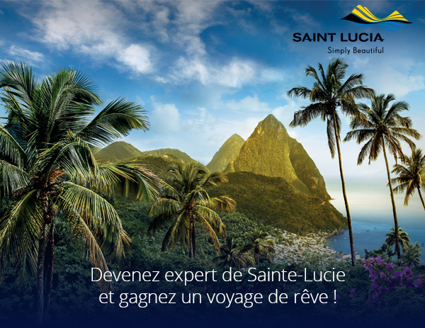 Jeu concours : tentez de gagner une semaine pour 2 personnes à Sainte-Lucie