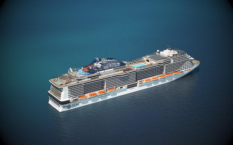 Le premier navire de la classe MSC Meraviglia, qui sortira en 2017, abritera une promenade intérieure de 96 mètres, dont le plafond sera un dôme de 80 mètres de long composé de LED. Le plus grand en mer ! - DR : MSC Croisières