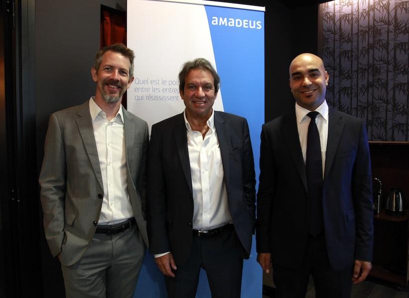 Alexandre Jorre, Georges Rudas et Jamel Chandoul d'Amadeus France (c) Johanna Gutkind