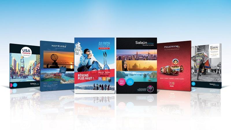 Des couvertures de brochures Salaun Holidays pour 2016 - DR : Brochuresenligne.com