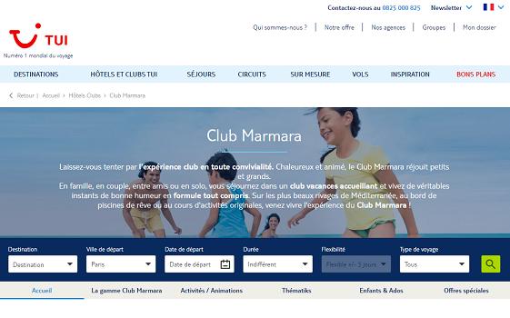 Les visiteurs du site TUI-Marmara peuvent profiter des conseils des passionnés rémunérés d'ibbü - Capture d'écran
