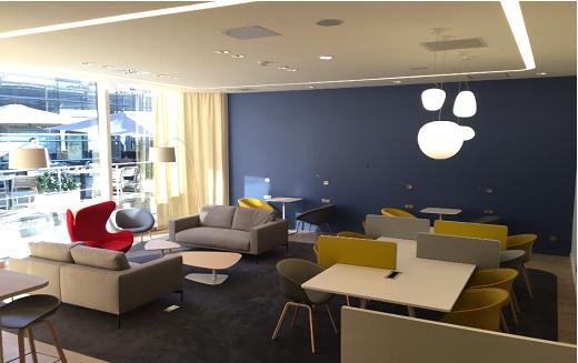 Le salon affaires de l'aéroport Montpellier-Méditerranée propose des espaces de relaxation, de restauration et de travail - Photo : DR