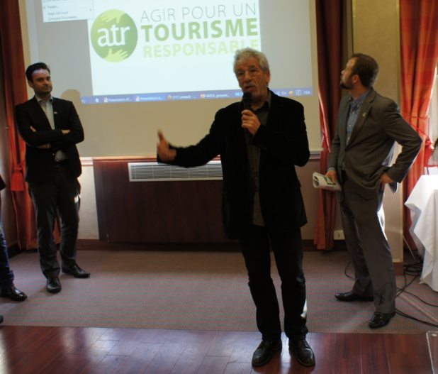 Guillaume Cromer ID-Tourisme, Vincent Fonvieille ATR et La Balaguère, et Julien Buot ATR - Photo CE