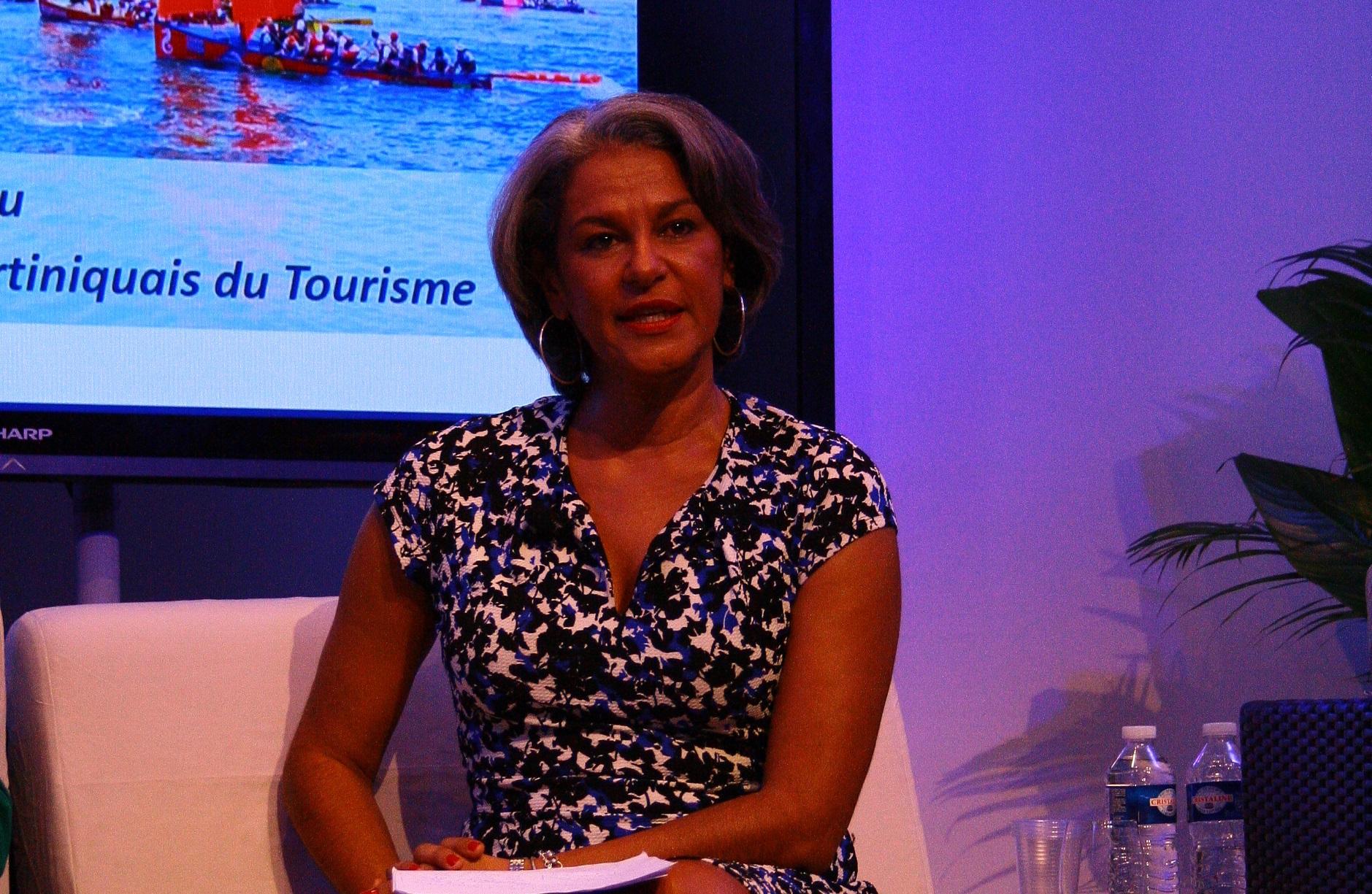 Karine Mousseau, présidente du Comité Martiniquais du Tourisme, a l'ambition de faire du tourisme un pourvoyeur d'emplois - DR : H.L.