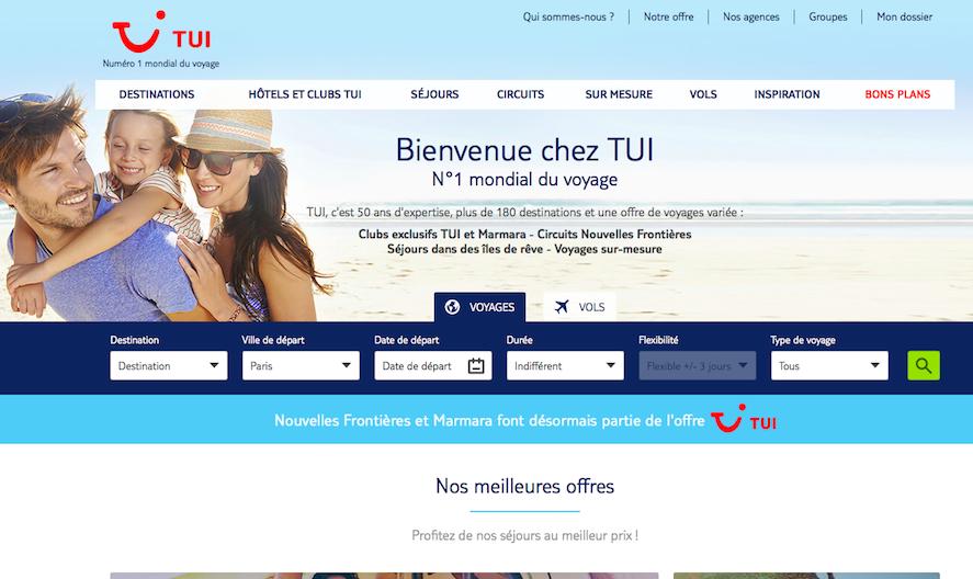 La nouvelle plateforme TUI.fr (c) capture