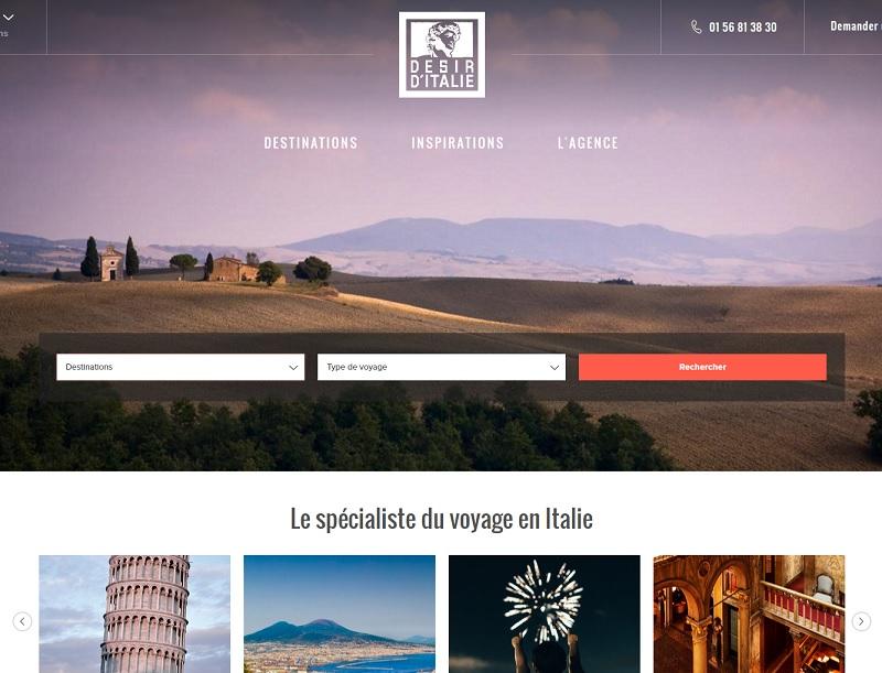 Désir d'Italie propose à la fois des circuits accompagnés en petits groupes, des voyages évènements dans les principales villes italiennes ou encore des city breaks - DR : Capture d'écran Désir d'Italie