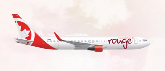 Air Canada Rouge est l'opérateur loisirs du groupe Air Canada - DR : Air Canada Rouge