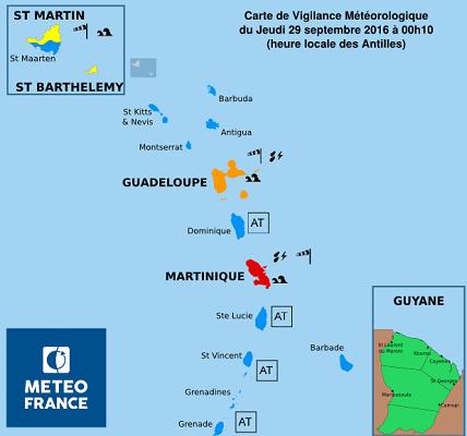 Fortes pluies et vents violents : la Martinique placée en vigilance rouge par Météo France
