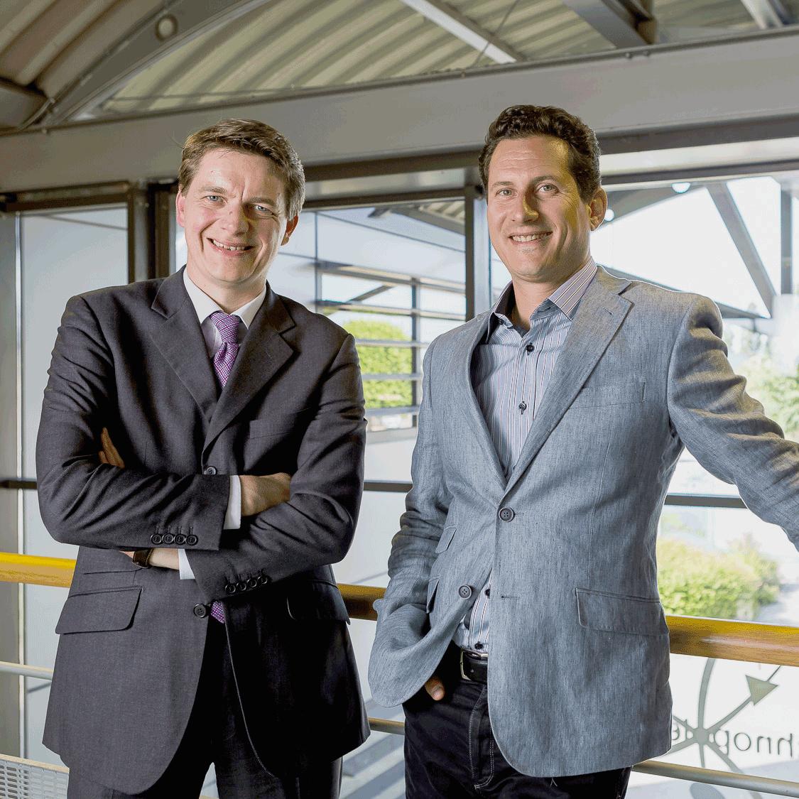 Grégoire Pfirsch (à gauche) et Matthieu Bruneteau (à droite) sont tous les deux issus de l'université Dauphine