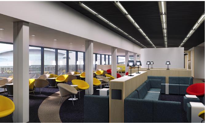 Le nouveau salon Hop! à Paris-Orly s'etdn sur une surface de 400 m² - Photo : Air France