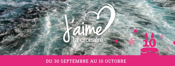 """L'opération """"J'aime la Croisière"""" a débuté le 30 septembre et se poursuit jusqu'au 10 octobre 2016 - DR"""