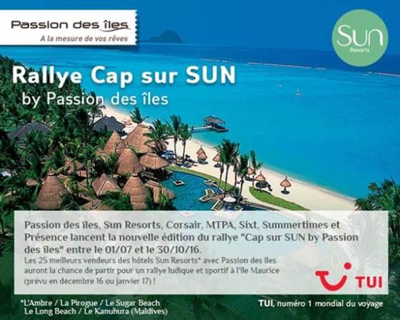 TUI / Passion des îles : deux challenges de ventes avec Hilton et Sun Resorts