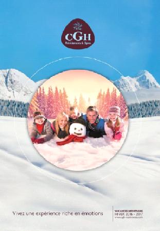 Couverture de la brochure hiver 2016-2017 de CGH Résidences & Spa - DR : CGH Résidences & Spa