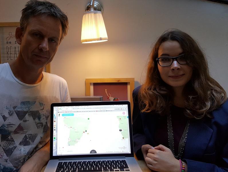 Fabrice Pawlak, co-fondateur de Togezer, et Sarah Berthe, Caravanière en chef de Togezer  - Photo : P.C.