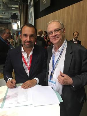 Manor et Thomas Cook France ont signe leur nouvel accord cadre à l'IFTM-Top Resa 2016 - Photo DR