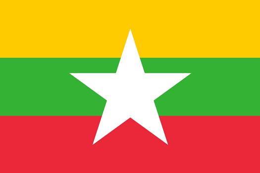 Drapeau de la Birmanie -  DR : Wikipedia
