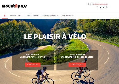 mountNpass référence des itinéraires pour les cyclistes - Capture d'écran