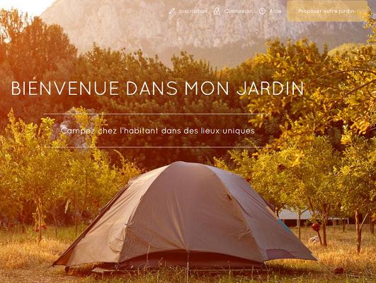 HomeCamper propose des emplacements de campings dans des jardins de particuliers - Capture d'écran