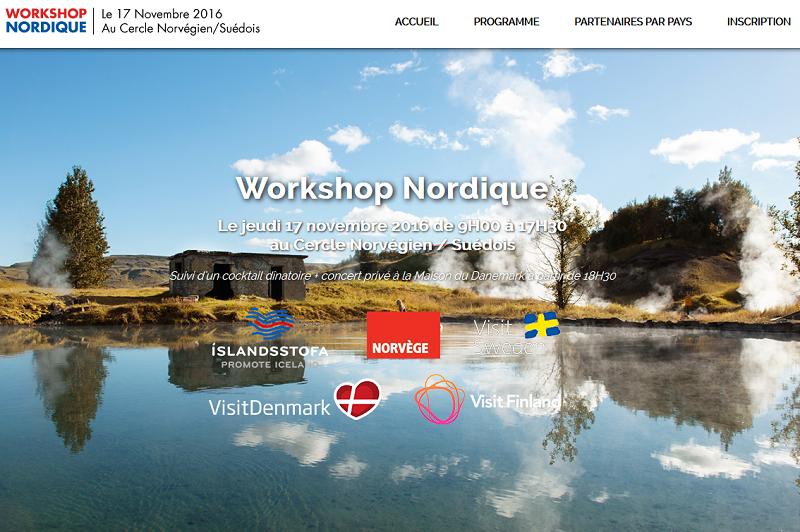 Le workshop rassemblera les 5 pays Nordiques : Danemark, Finlande, Islande, Norvège et Suède.