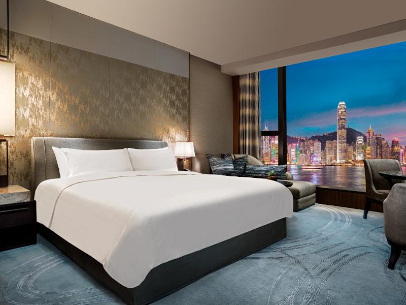 Une des chambres de nouvel hôtel Shangri-La qui va ouvrir à Hong Kong - DR