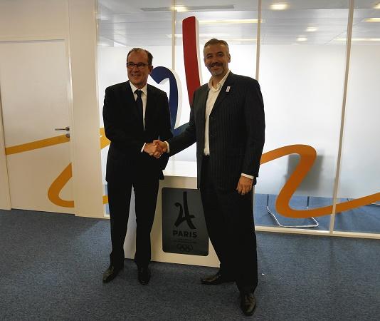 De gauche à droite : Christian Mantei (Atout France) et Etienne Thobois (Paris 2024) - Photo : Atout France