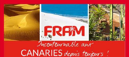 Fram : 5% de com en plus sur les forfaits individuels Canaries